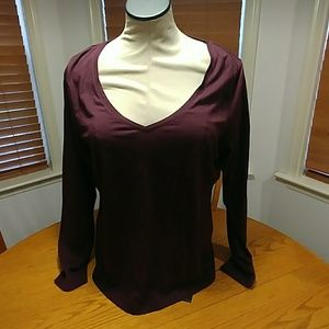Lands end of long sleeve size lg